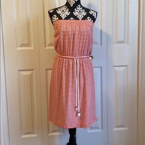 NWOT GAP Nautical Striped Strapless Dress